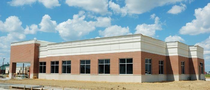 brick commercial building exterior