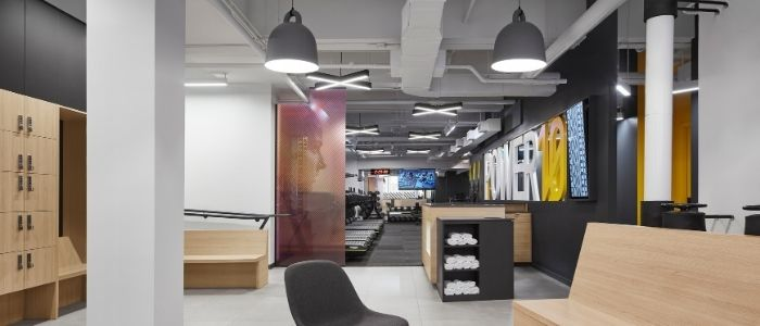 interior of a modern commercial gym facility