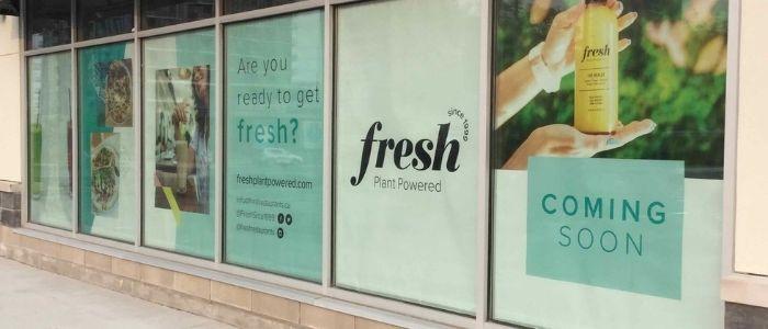 Exterior of Fresh Plant Powered Restaurant