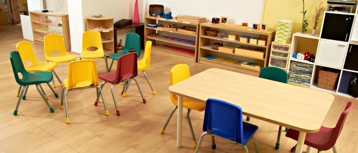 Daycare center interior